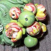 Украшения ручной работы. Ярмарка Мастеров - ручная работа Брошь Фламандская роза. Handmade.