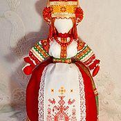 Куклы и пупсы ручной работы. Ярмарка Мастеров - ручная работа Кукла оберег в русском стиле из льна и бязи на чайник Макошь. Handmade.