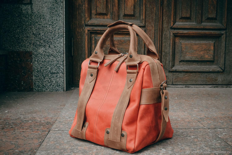 Женская дорожная сумка, Красный саквояж, Саквояжи, Днепр, Фото №1
