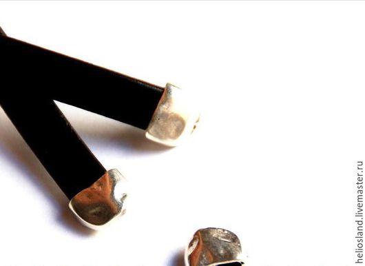 Для украшений ручной работы. Ярмарка Мастеров - ручная работа. Купить Концевик для  шнуров  10мм. Handmade. Серебряный, замок