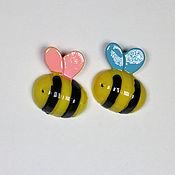 Материалы для творчества ручной работы. Ярмарка Мастеров - ручная работа Кабошоны акриловые пчелки большие. Handmade.