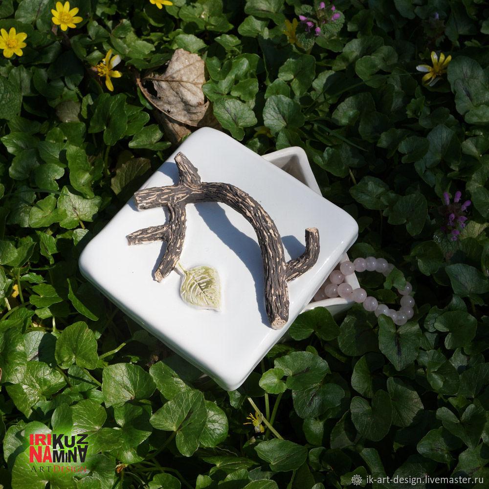 Керамическая шкатулка `Дары леса`. Природа в вашем доме Ceramic handmade box inspired by nature