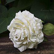 Украшения ручной работы. Ярмарка Мастеров - ручная работа Ободок с белой розой.. Handmade.