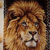 """Картины и панно ручной работы. Ярмарка Мастеров - ручная работа Панно в ковровой технике """"Лев"""". Handmade."""