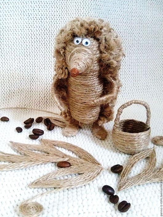 Игрушки животные, ручной работы. Ярмарка Мастеров - ручная работа. Купить Ежик в тумане....(джут, игрушка, сувенир, еж). Handmade.
