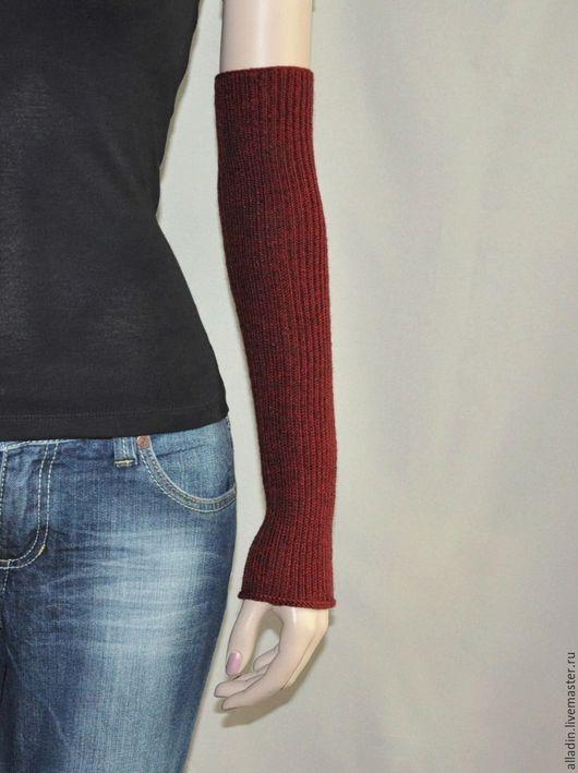 Варежки, митенки, перчатки ручной работы. Ярмарка Мастеров - ручная работа. Купить Рукава Sabrina (полушерсть,stretch). Handmade.