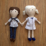 Куклы и игрушки ручной работы. Ярмарка Мастеров - ручная работа Кукла игровая: девочка и мальчик. Handmade.