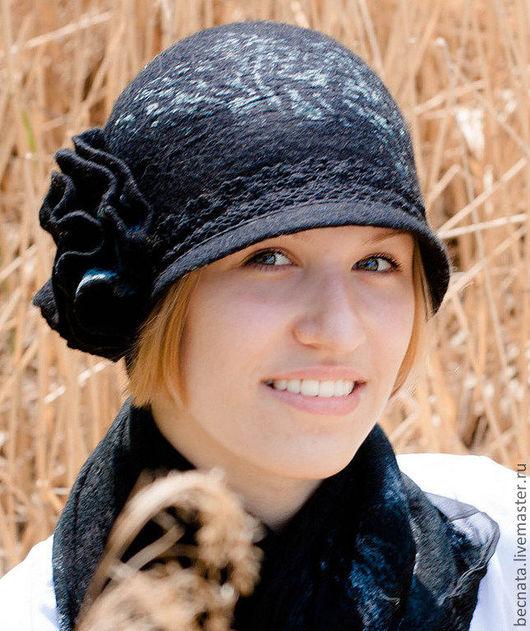 """Шляпы ручной работы. Ярмарка Мастеров - ручная работа. Купить Шляпка""""Модерн..."""". Handmade. Черный, головной убор, шляпки"""