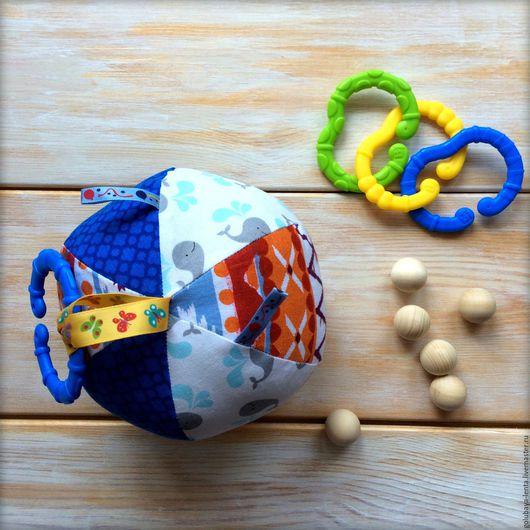 Развивающие игрушки ручной работы. Ярмарка Мастеров - ручная работа. Купить Развивающий мячик. Handmade. Комбинированный, развивающие игрушки, мячик