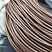 Материалы для творчества handmade. Livemaster - original item 1 m Cord leather 2 mm BEIGE (746-TBEZH). Handmade.