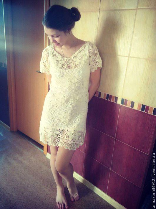 Платья ручной работы. Ярмарка Мастеров - ручная работа. Купить Летние грезы. Handmade. Белый, платье крючком, лето