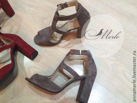 Обувь ручной работы. Ярмарка Мастеров - ручная работа. Купить Босоножки замшевые  Avant 10 см Серые. Handmade. Серый