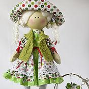 Куклы и игрушки ручной работы. Ярмарка Мастеров - ручная работа Лето. Кукла текстильная. Большеногая девочка. Яблочная Грета. Handmade.