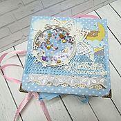 Упаковочная коробка ручной работы. Ярмарка Мастеров - ручная работа Мамины сокровища для мальчика. Handmade.