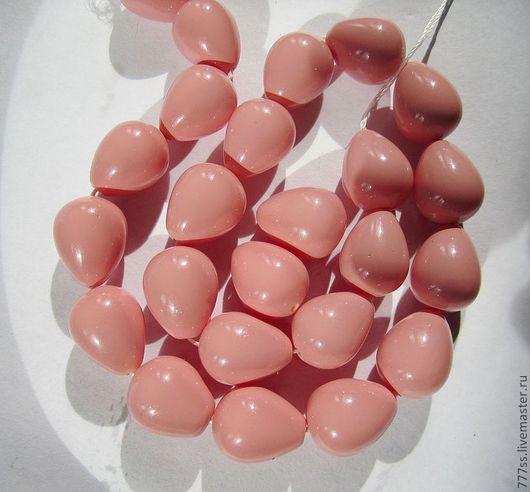 Для украшений ручной работы. Ярмарка Мастеров - ручная работа. Купить Жемчуг майорка  (розовая капля) 3. Handmade. Кремовый
