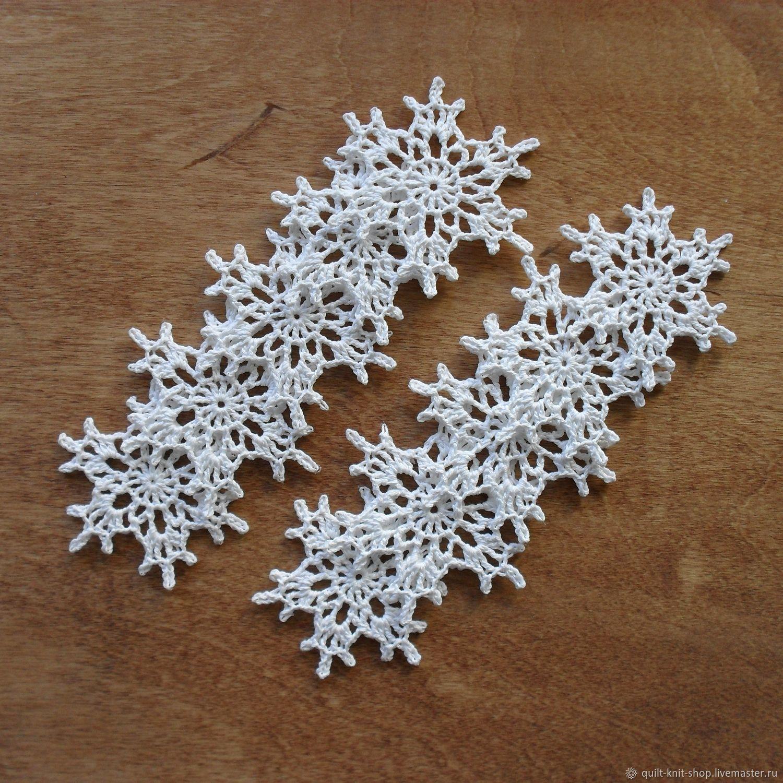 Набор белых снежинок - 4, Салфетки, Красноярск,  Фото №1