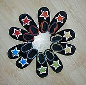 Мокасины ручной работы. Ярмарка Мастеров - ручная работа Мокасины: Пинетки, чешки, мокасины Звёзды. Handmade.