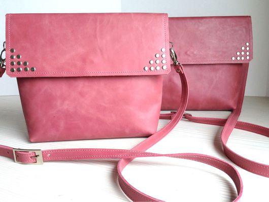 Женские сумки ручной работы. Ярмарка Мастеров - ручная работа. Купить Сумка розовая. Handmade. Кожа, Красивая сумка