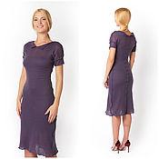 Одежда ручной работы. Ярмарка Мастеров - ручная работа Шерстяное платье, фиолетовое. Handmade.