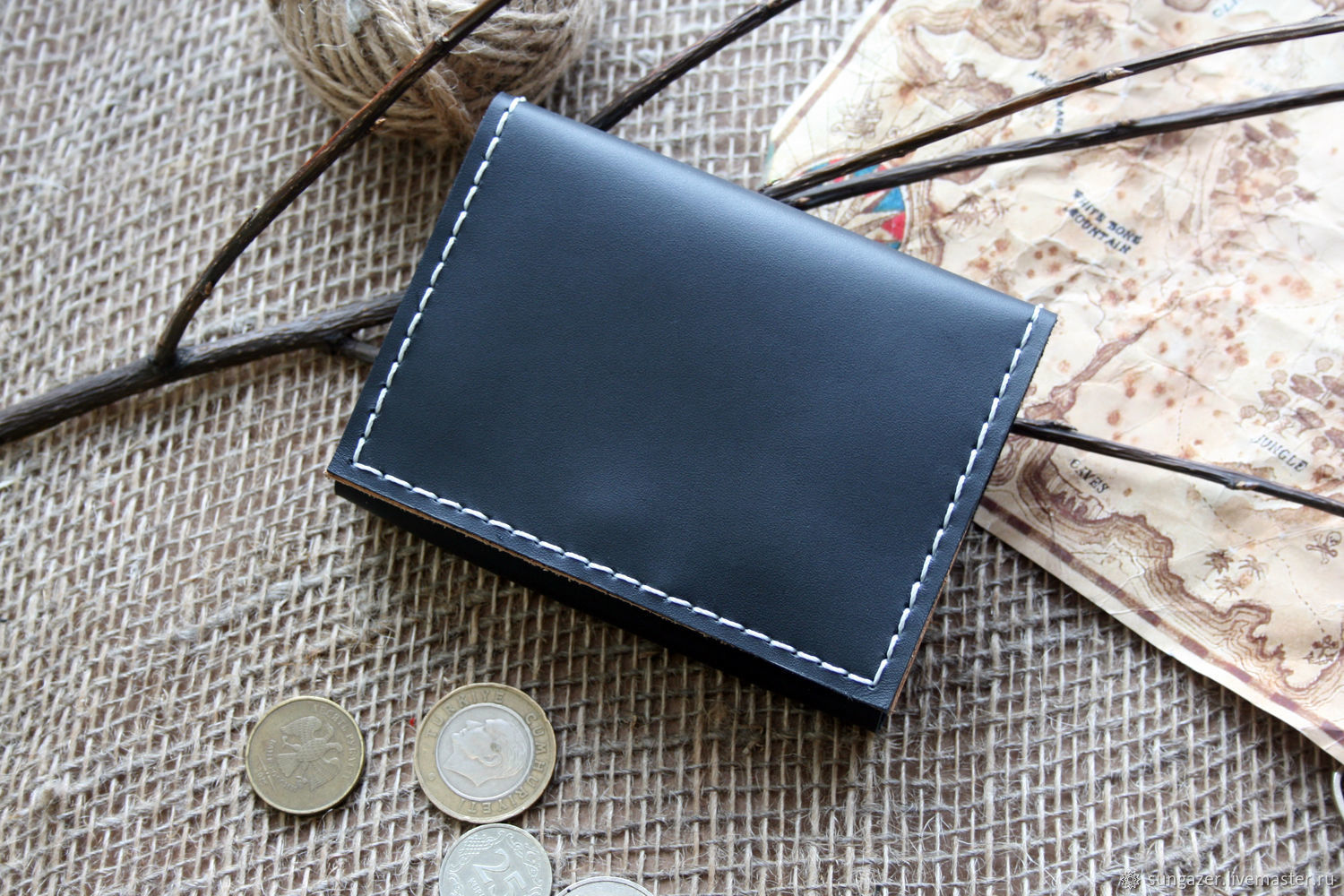 Mini wallet with a coin holder with a zipper, Wallets, Murmansk,  Фото №1