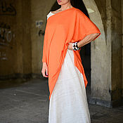 Одежда handmade. Livemaster - original item The dress is knitted from linen/cotton, two part - DR0286CK. Handmade.