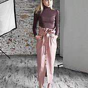 Юбки ручной работы. Ярмарка Мастеров - ручная работа Юбка с высокой талией, макси юбка со съемными шлейками. Handmade.