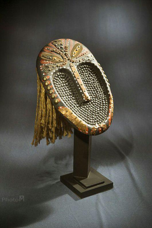 Интерьерные  маски ручной работы. Ярмарка Мастеров - ручная работа. Купить Маска этническая. Handmade. Статуэтка ручной работы, маска