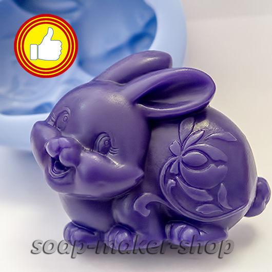 Материалы для косметики ручной работы. Ярмарка Мастеров - ручная работа. Купить Силиконовая форма для мыла «Кролик 2D». Handmade.