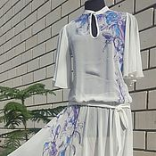 """Одежда ручной работы. Ярмарка Мастеров - ручная работа Платье """"Запах фиалки"""" 111255 Скидка 50 %. Handmade."""