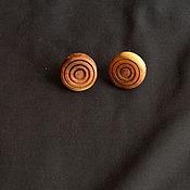 Украшения ручной работы. Ярмарка Мастеров - ручная работа Серьги-гвоздики из вишни. Handmade.