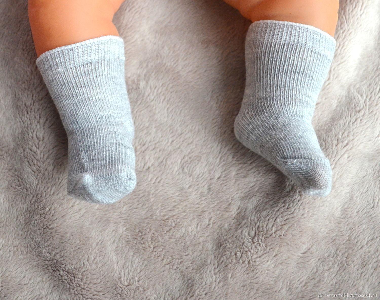 Носочки для кукол серые, Материалы для творчества, Ярославль, Фото №1