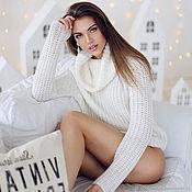 Одежда handmade. Livemaster - original item Cashmere white sweater. Handmade.