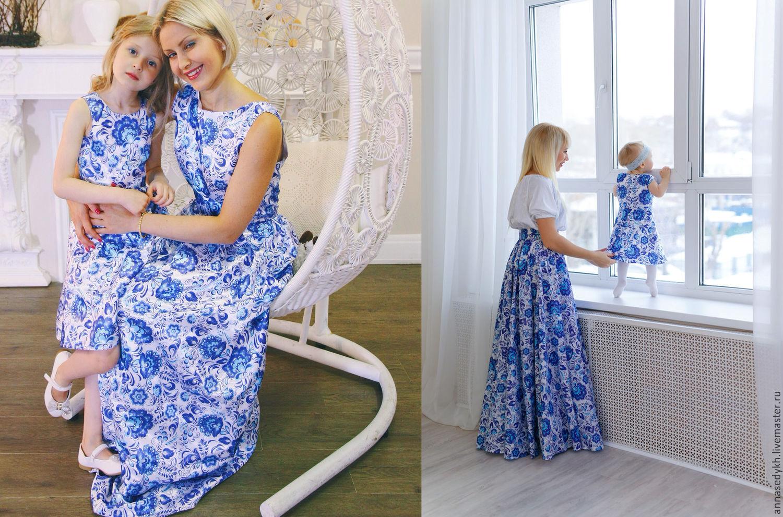 Купить ткань синяя на платье