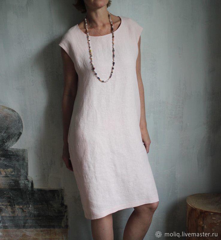 9ab30dba799 Платья ручной работы. Ярмарка Мастеров - ручная работа. Купить Итальянское  пудровое платье. Льняное ...