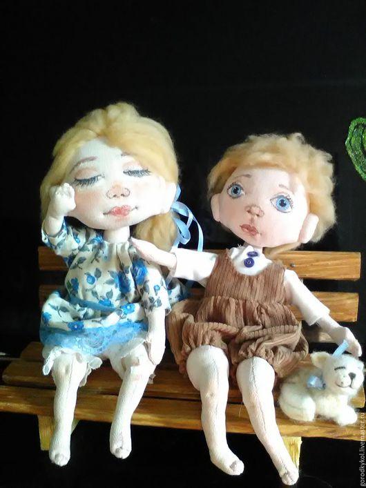 Коллекционные куклы ручной работы. Ярмарка Мастеров - ручная работа. Купить Упала. Handmade. Комбинированный, интерьерная кукла, лен