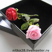 Украшения ручной работы. Ярмарка Мастеров - ручная работа Мини-Розовые броши. Handmade.