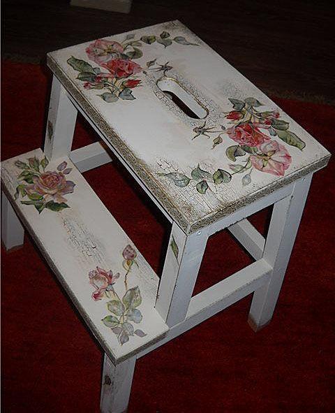 """Мебель ручной работы. Ярмарка Мастеров - ручная работа. Купить Табурет - лестница """"Английская роза"""". Handmade. Табурет, табуретка"""