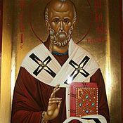Картины и панно handmade. Livemaster - original item The Icon Of St. Nicholas. Handmade.