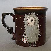 """Посуда ручной работы. Ярмарка Мастеров - ручная работа Чашка """"Ежик в тумане"""". Handmade."""