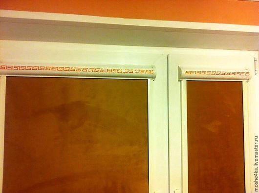 Элементы интерьера ручной работы. Ярмарка Мастеров - ручная работа. Купить Рулонные шторы со стразами Swarovski. Handmade. Рыжий