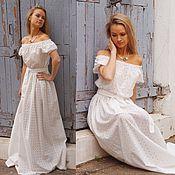 Платье Нежное белое летнее - платье на лето длинное белое