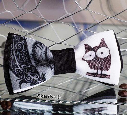 """Галстуки, бабочки ручной работы. Ярмарка Мастеров - ручная работа. Купить Галстук-бабочка """"Сова"""" в ассортименте. Handmade. Комбинированный, подарок"""