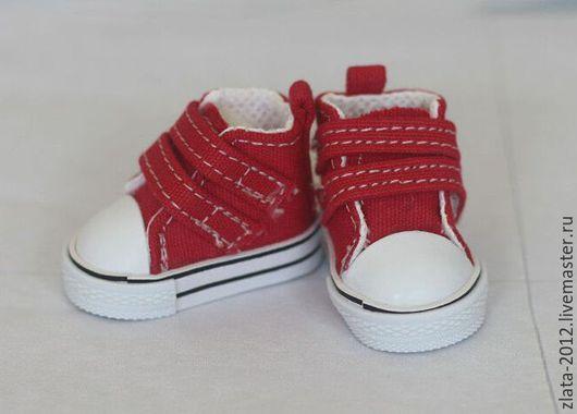 """Куклы и игрушки ручной работы. Ярмарка Мастеров - ручная работа. Купить Кеды 5см""""Красные"""". Handmade. Обувь, обувь для кукол"""