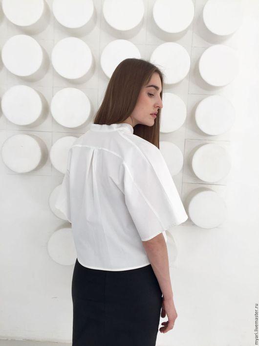 Блузки ручной работы. Ярмарка Мастеров - ручная работа. Купить Рубашка-кимоно. Handmade. Белый, стильная одежда