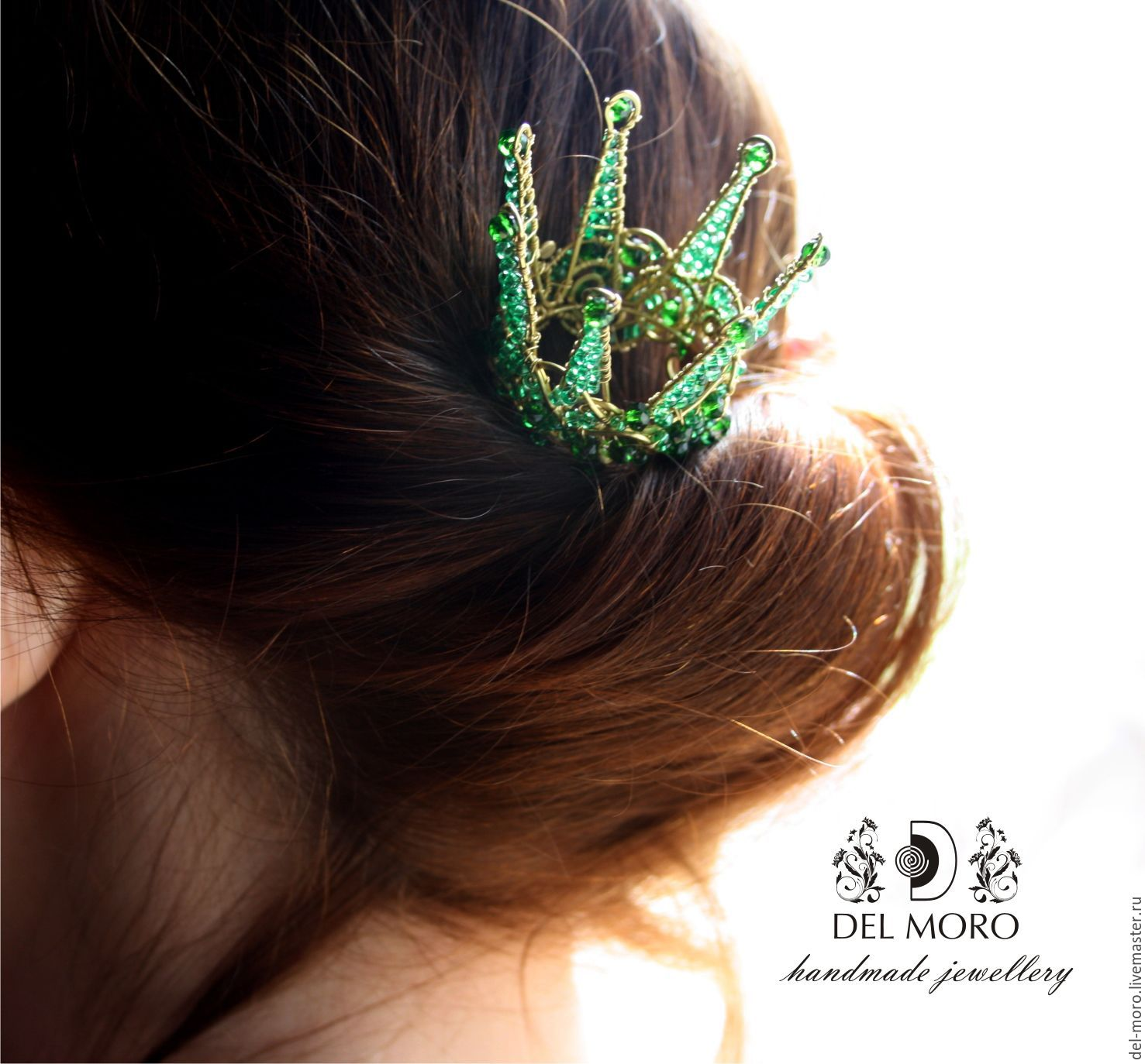 Stud 'Queen of the night forest', Hairpin, St. Petersburg,  Фото №1