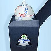 Елочные игрушки ручной работы. Ярмарка Мастеров - ручная работа Деревянные или стеклянные шары с детскими рисунками.. Handmade.