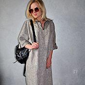 Одежда ручной работы. Ярмарка Мастеров - ручная работа Платье меланжевое изо льна. Handmade.