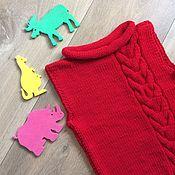 Одежда ручной работы. Ярмарка Мастеров - ручная работа Вязаный жилет для малышки. Handmade.