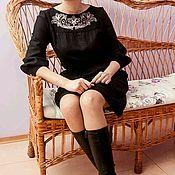 """Одежда ручной работы. Ярмарка Мастеров - ручная работа Льняное женское платье ,,Офелия"""". Handmade."""