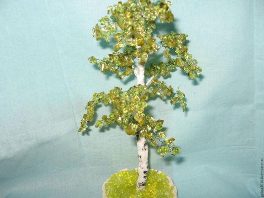 Деревья ручной работы. Ярмарка Мастеров - ручная работа. Купить Дерево Берёзка из натуральных камней. Handmade. Дерево, зеленый